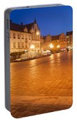 Wroclaw Old Town Market Square At Night Portable Battery Charger