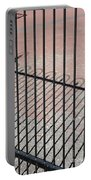 Wrought-iron Gate And Shadows Portable Battery Charger