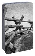 Wyoming Snow Fence Portable Battery Charger