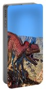 Xuanhanosarus In The Desert Portable Battery Charger
