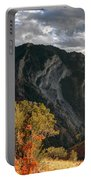 Y Mountain Above Provo Utah At Sunset Portable Battery Charger
