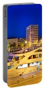 Yacht In Zadar Harbor Evening View Portable Battery Charger