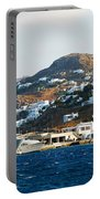 Yachts Docked At Port Skala Greece On Patmos Island Portable Battery Charger