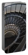 Yaquina Lighthouse Stairway Nautilus - Oregon State Coast Portable Battery Charger