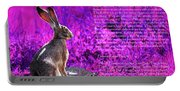 Year Of The Rabbit 2011 . Magenta Portable Battery Charger