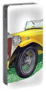 Yellow 1949 M G T C Midget Portable Battery Charger