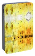 Yellow Abstract Art - Good Vibrations - By Sharon Cummings Portable Battery Charger