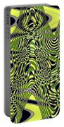 Yellow And Black #3 Abstract Portable Battery Charger