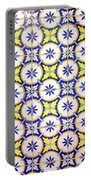 Yellow And Blue Circle Tile Portable Battery Charger