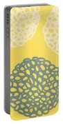 Yellow And Gray Garden Bloom Portable Battery Charger