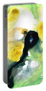 Yellow And Green Abstract Art - Into The Light - Sharon Cummings Portable Battery Charger