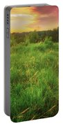 Retzer Nature Center - Yellow And Purple Summer Sunset  Portable Battery Charger