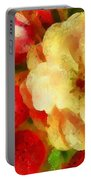 Yellow And Red Floral Delight Portable Battery Charger