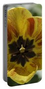 Yellow And Red Tulip Center Squared Portable Battery Charger