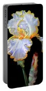 Yellow And White Iris Portable Battery Charger