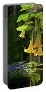 Yellow Angel Trumpet Portable Battery Charger