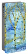 Yellow Birches Portable Battery Charger