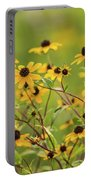 Yellow Black Eyed Susan Wildflowers In Summer Portable Battery Charger