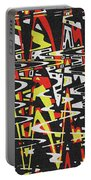 Yellow Black Red White Drawing Abstract Portable Battery Charger