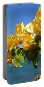 Yellow Bougainvillea Over The Mediterranean On The Island Of Cyprus Portable Battery Charger