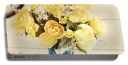 Yellow Bouquet Of Flowers Portable Battery Charger