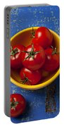 Yellow Bowl Of Tomatoes  Portable Battery Charger