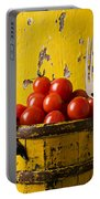 Yellow Bucket With Tomatoes Portable Battery Charger