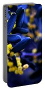 Yellow Bursts In Blue Field Portable Battery Charger