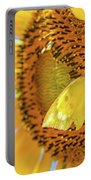 Yellow Butterfly And Sunflower Portable Battery Charger