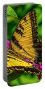 Yellow Butterfly In The Garden Portable Battery Charger