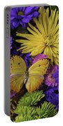 Yellow Butterfly On Bouquet Portable Battery Charger