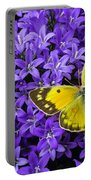 Yellow Butterfly On Mee Portable Battery Charger