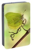 Yellow Butterfly On The Branch Portable Battery Charger