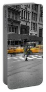 Yellow Cab On Fifth Avenue, New York 4 Portable Battery Charger