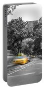 Yellow Cabs In Central Park, New York 3 Portable Battery Charger