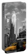 Yellow Cabs In Midtown Manhattan, New York Portable Battery Charger