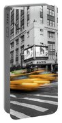 Yellow Cabs Near Macy's Department Store, New York Portable Battery Charger