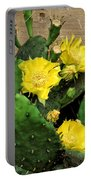 Yellow Cactus Flowers Portable Battery Charger