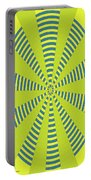 Yellow Cactus Spines Abstract Portable Battery Charger
