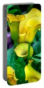 Yellow Calla Lilies Portable Battery Charger