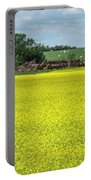 Yellow Canola Field Portable Battery Charger