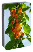 Yellow Cherries Portable Battery Charger