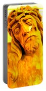 Yellow Christ #1 Portable Battery Charger