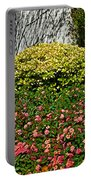 Yellow Coleus And Lantana At Pilgrim Place In Claremont-california Portable Battery Charger