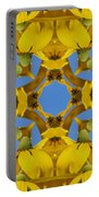 Yellow Coneflower Kaleidoscope Portable Battery Charger