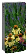 Yellow Coneflowers And Lavender 1633 H_2 Portable Battery Charger
