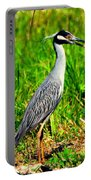 Yellow Crested Night Heron Catches A Fiddler Crab Portable Battery Charger