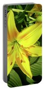 Yellow Day Lilies Portable Battery Charger