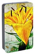 Yellow Easter Lily Portable Battery Charger