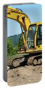Yellow Excavator In Anacortes Portable Battery Charger